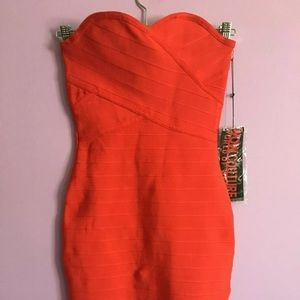 WOW Couture Sweetheart RED Bandage Dress Size S